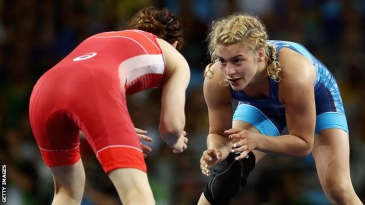 Helen Maroulis caused one of the biggest upsets in women's wrestling as she became the first American to win Olympic gold in the sport.  Maroulis, 24, beat Japan's 13-time freestyle world champion Saori Yoshida 4-1 in the -53kg final in Rio.
