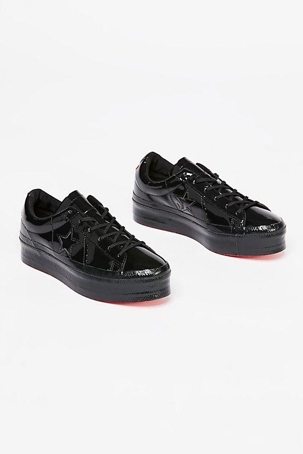 56b0eec91b5ff3 One Star Patent Platform Sneaker