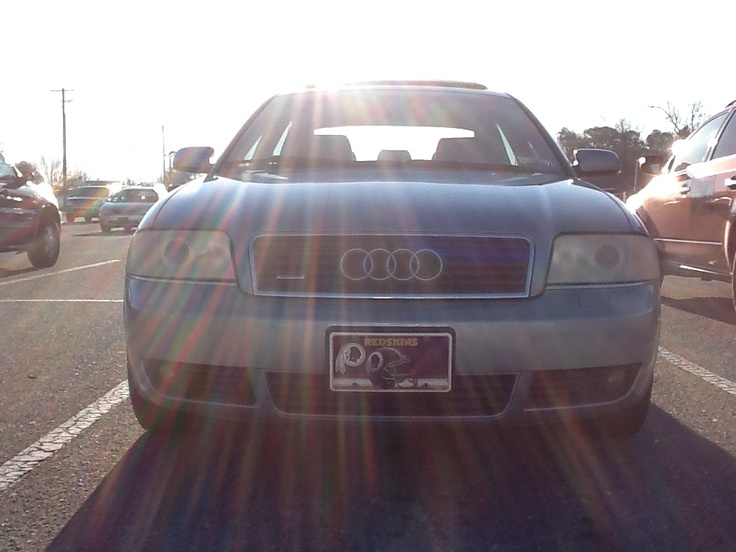 Audi A6 Before headlight restoration