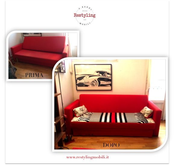 Restyling del divano-letto di Ikea by Restyling Mobili - www.restylingmobili.it
