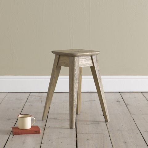 PERCH: The result of happy initiative! One of our craftsmen wanted a lower stool to sit on so he made this sand-blasted beauty which we all ended up fighting over. Sold in pairs. #KITCHEN #CHAIR #STOOL