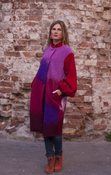 """Yaga coat from new collection """"Contrast"""", Fall 2015"""