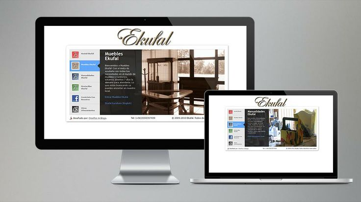 2009: This is the portal page for Ekufal, a small, family-run company in south-central Chile. (business no longer exists) // Este es la portada del serie de sitios web para el negocio familiar de Lican-Ray. (el negocio ya no existe)