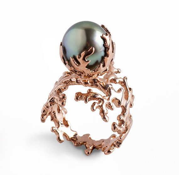 17 Best ideas about Gold Pearl Ring on Pinterest