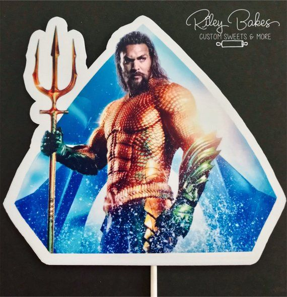 Aquaman Cake Topper Custom cake topper Aquaman Center ...