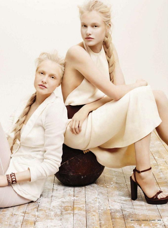 Twin sisters and models Ieva and Aida Aniulyte