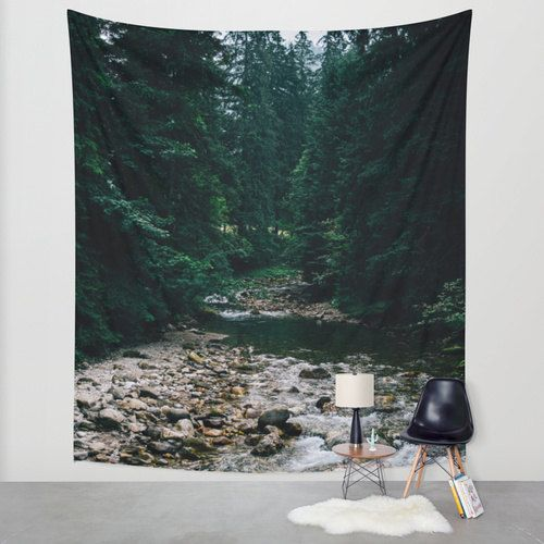 Hey, I found this really awesome Etsy listing at https://www.etsy.com/listing/259351499/mountain-river-tapestry-river-wall