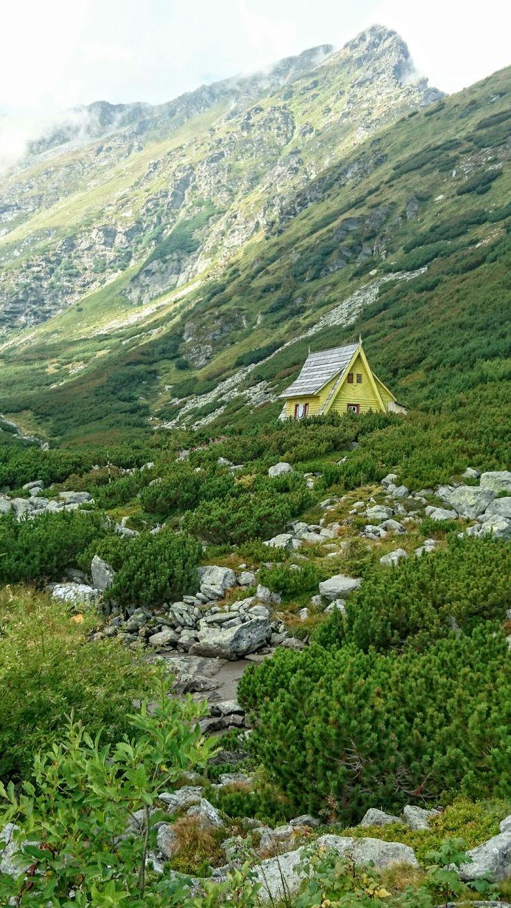 Mountain cabin near Iezer Lake, Rodnei Mountains, Romania.