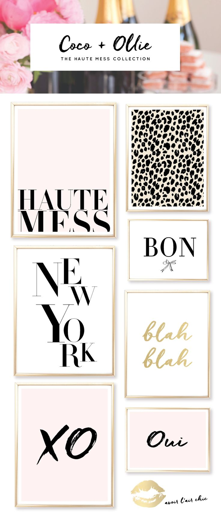 We're prettttty much in love with the new Haute Mess Collection from the Coco + Ollie Print Shop. Glam, gold, pink, and very vogue. You'll see this whole collection if you join us on Periscope  (they'll be on the wall behind me). All prints now come in an 8.5 x 11 size and have the […]