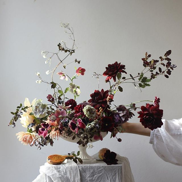 Real dancing floral centerpiece