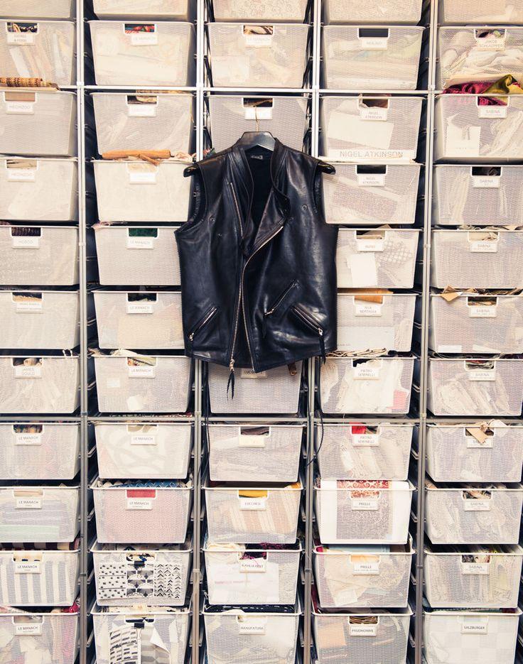 Inside Architect Peter Marino's Art-Filled Home: Leather Vest   coveteur.com