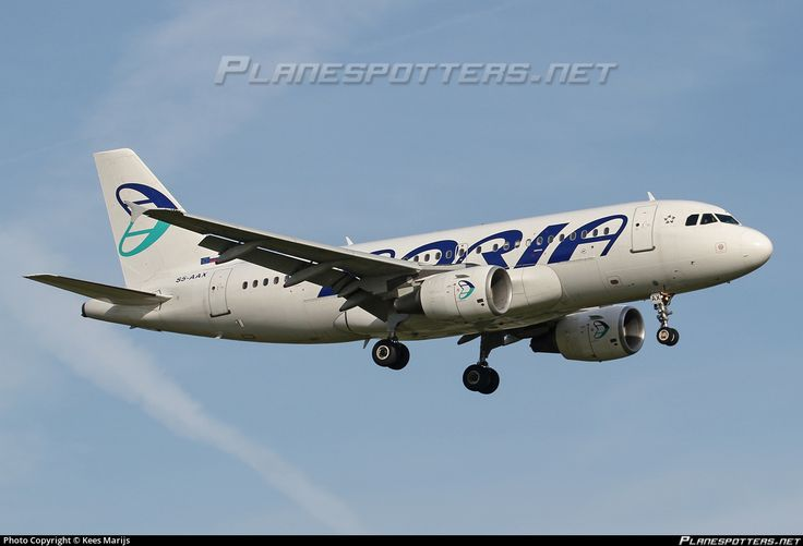 Adria Airways Airbus A319-111 SS-AAX aircraft, on short finals to the Netherlands Amsterdam Schiphol International Airport. 16/08/2016.