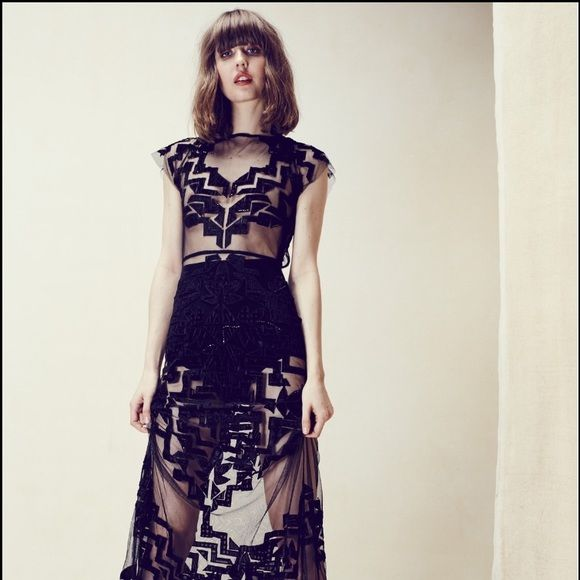 FL&L Black Vienna Maxi Dress Size M  Gorgeous black velvet For Love & Lemons Vienna maxi dress, size Medium. ✨No Trades/PP✨ For Love and Lemons Dresses Maxi