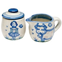 Add some flair to your coffee with Hadley Pottery Cream and Sugar $40.25