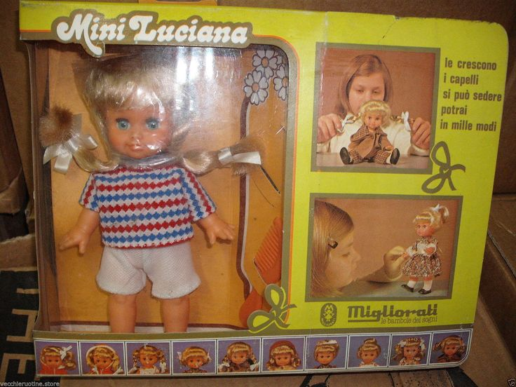 Bambola MINI LUCIANA MIGLIORATI ALLUNGA E TAGLIA I CAPELLI Anni 70 NUOVA Doll 25.9+16.15 euro