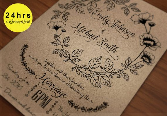 When Do You Order Wedding Invitations: 1000+ Ideas About Free Invitation Templates On Pinterest