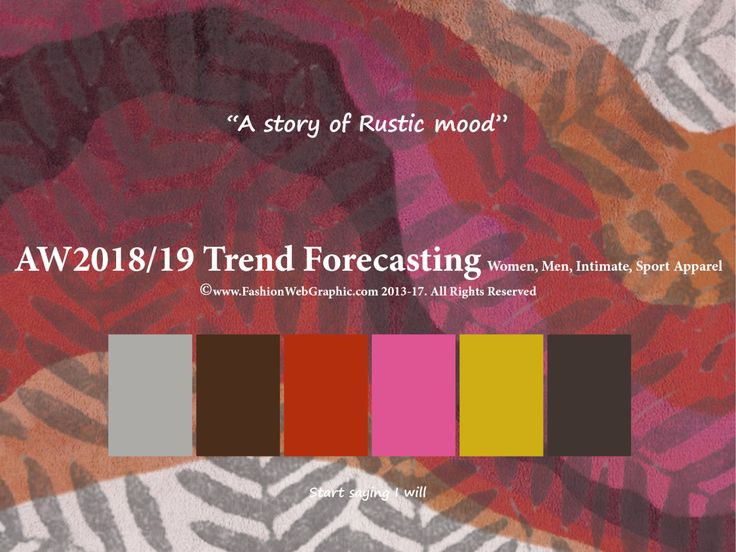 AW2018/2019 Trend Forecasting for Women, Men, Intimate, Sport Apparel - A story of Rustic mood www.JudithNg.com