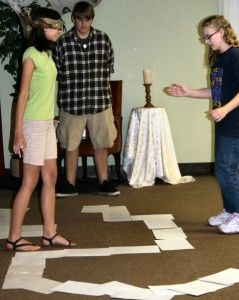 Blindfold Maze Activity - Use with Acts Bible lesson where Paul was blinded on road to Damascus.