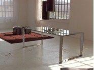 Tavolo da pranzo in acciaio inox e cristallo RING | Tavolo by F.lli Orsenigo