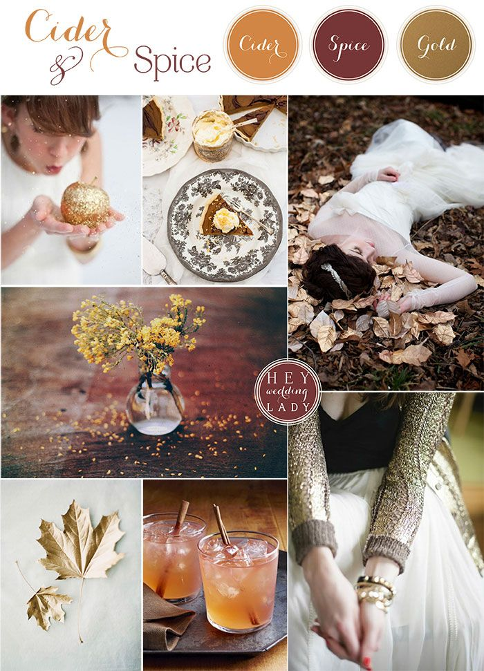 Cider and Spice – Gilded Autumn Woods Wedding Ideas