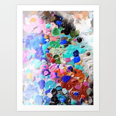 """Palette Craze"" by Melissa Stinson. Prints now available on Society 6!"