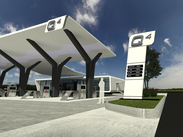 gas station forecourt layout - Buscar con Google