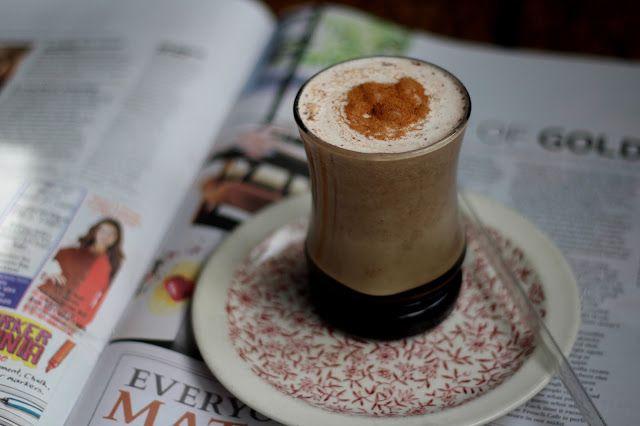 a simple vanilla cinnamon and date milkshake