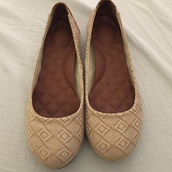 Reef slip ons Super comfortable. I was apparently more of a 9 3/4 size. 10 slipped off, but 9.5 was just a touch too tight on me. (I have wide feet, great for normal widths) Reef Shoes Flats & Loafers