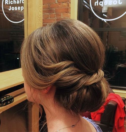 loose chignon with a twist                                                                                                                                                                                 More