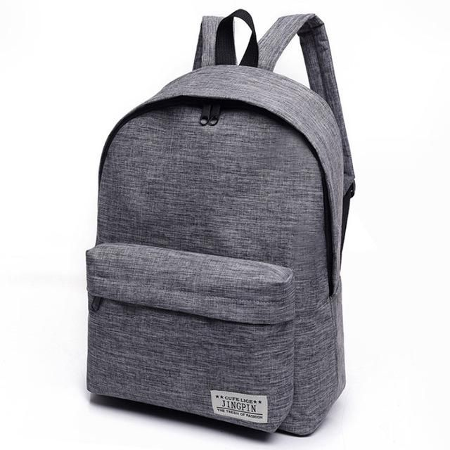 Brand Canvas Men Women Backpack College High Middle School Bags
