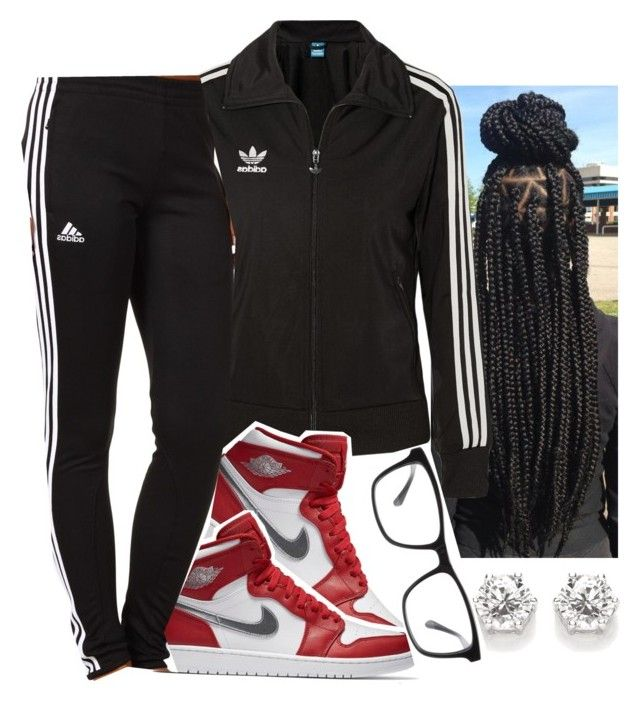 """""""(school ootd Friday)"""" by eazybreezy305 ❤ liked on Polyvore featuring adidas Originals, adidas, Joseph Marc, LazyDay, ootd and 2017"""