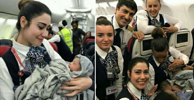 """Woman Goes Into Labour Mid-Air Gives Birth To A Baby Girl At An Altitude Of 42000 Ft   Thanks to a trained crew a French woman was able to safely give birth at 42000 feet on a Turkish Airlines flight Hurriyet Daily News reported.  The woman Diaby Nafi went into labour shortly after her fight took off from Guinea's capital Conakry for Istanbul. Nafi is of Guinean origin. Lucky for her the plane's cabin crew has received training for just such an eventuality.  """"The mother gave birth while…"""