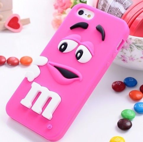 Cute M&M iPhone case prevents from iPhone breakage and comes in all different colours and very priceless