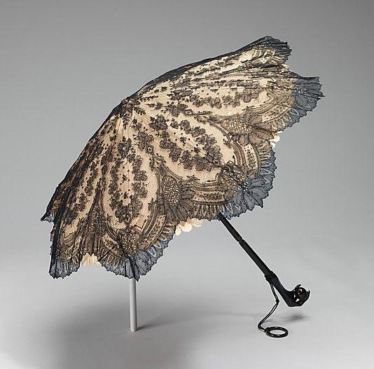 Parasol  Fortis  Date: 1860–65 Culture: American Medium: silk, tortoiseshell, metal, wood