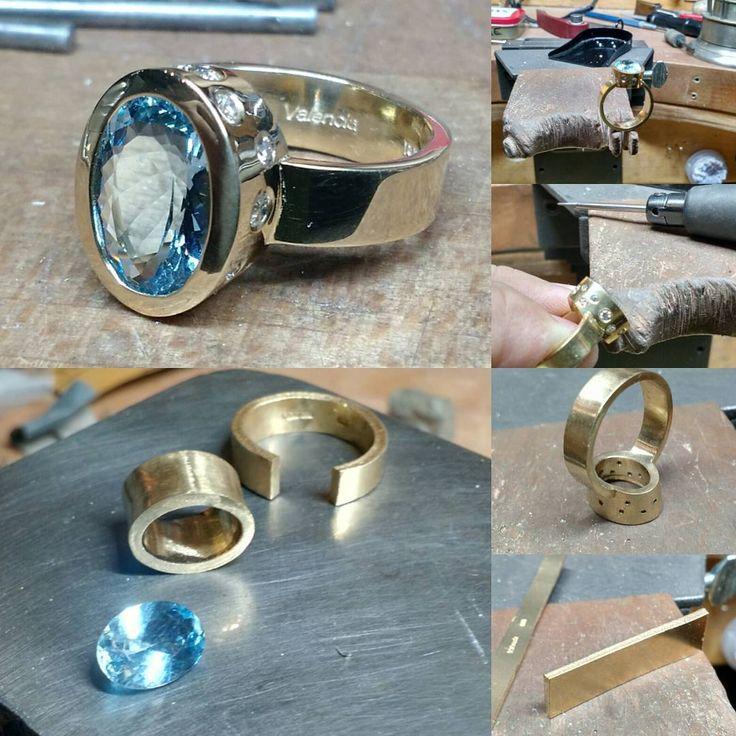 Instagram: jewelryclassdc - Stone Setting a Beautiful Ring (Laura Ziang)