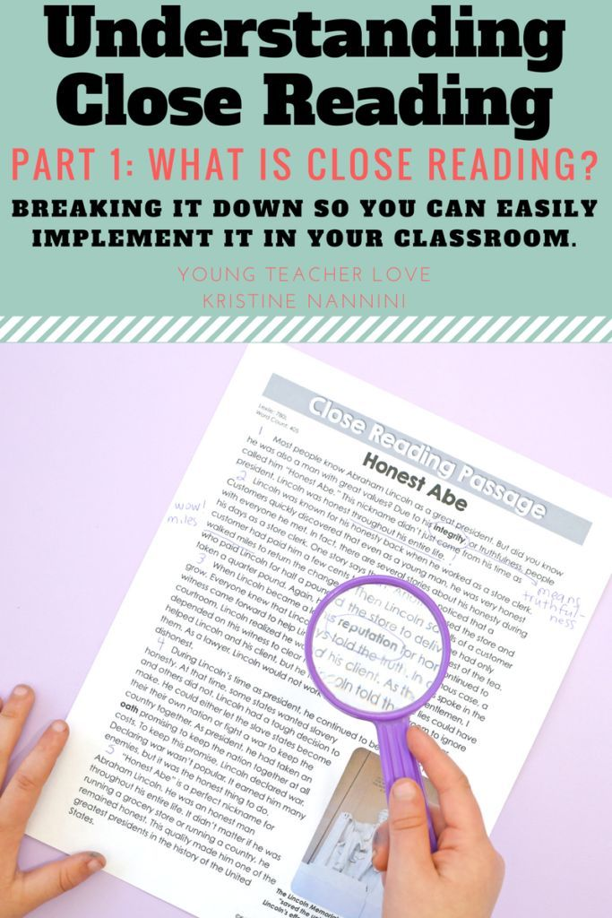 FREE! Understanding Close Reading: Part 1- What is Close Reading? Implement close reading in your classroom tomorrow! - Young Teacher Love by Kristine Nannini