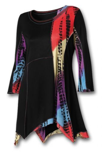native american black fancy tunic from southwest indian foundation