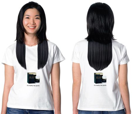 Check out this clever tee, promoting a hair growth product in Singapore. http://www.toxel.com/inspiration/2009/04/14/clever-and-creative-t-shirt-designs/