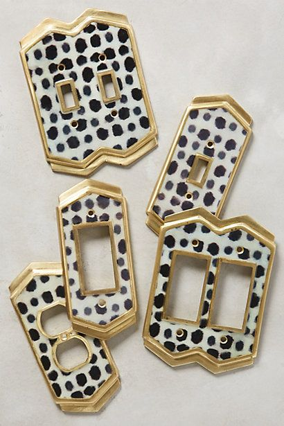 Dotted Ames Switch Plate #anthropologie