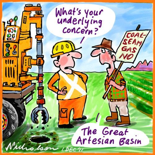 One of our concerns with CSG mining is contamination of our precious Great Artesian Basin. There are many more issues as well.