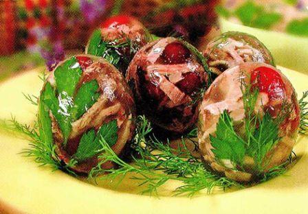 Заливные яйца, рецепты в скорлупе