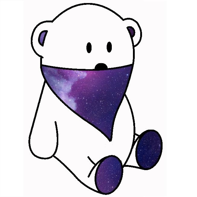 white bear & dark space bandana
