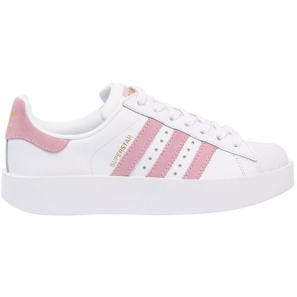 Adidas Originals Women Superstar Leather Platform Sneakers ($155) ❤ liked on Polyvore featuring shoes, sneakers, platform trainers, leather platform shoes, rubber sole shoes, leather shoes and adidas originals trainers