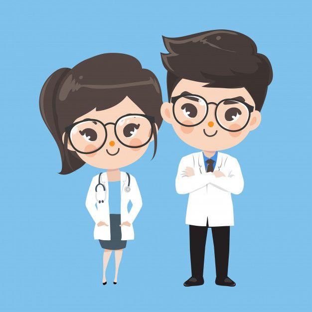 Action Character Doctor Cute Character Illustration Nurse Cartoon Medical Wallpaper