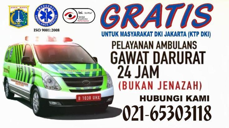 Info layanan Ambulans Gawat Darurat GRATIS 24 Jam hubungi: DinKes Provinsi DKI Jakarta 021-65303118