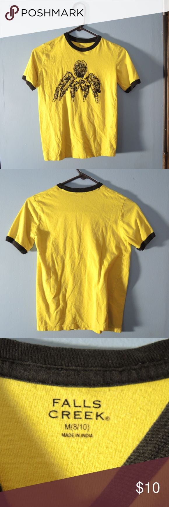 Boys Spider Tshirt Boys Yellow t-shirt with black raised Spider Falls Creek Shirts & Tops Tees - Short Sleeve