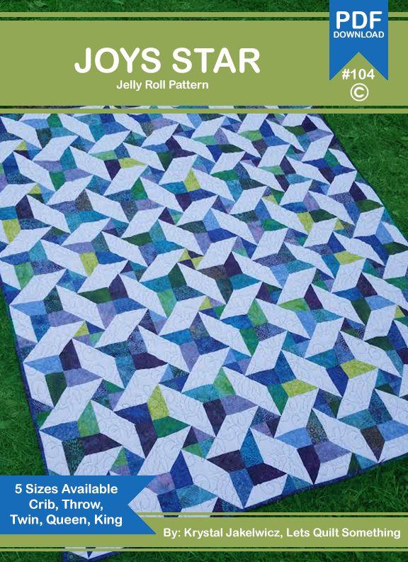 Joys Star - Free Quilt Pattern - Jelly Roll