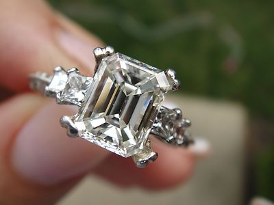 Tacori Ring Set With 1.50 G VS2 Emerald Center    eBay   na