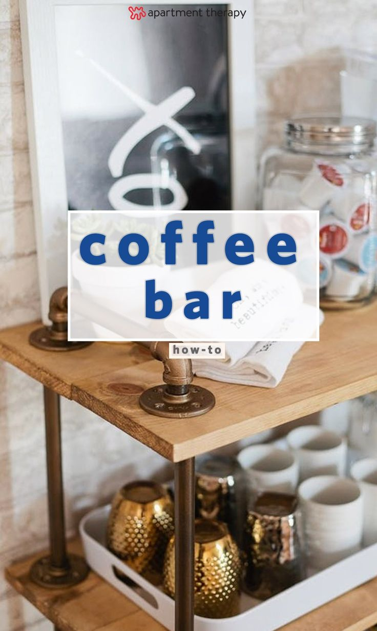 6531 best diy projects ideas crafts images on pinterest for Coffee bar setup ideas