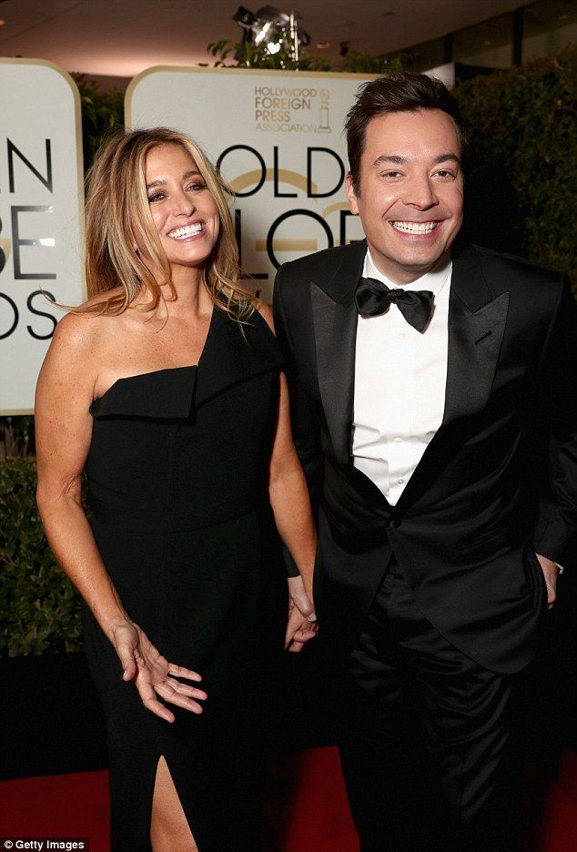 Still hot for each other:  Jimmy Fallon, 42, and spouse Nancy Juvonen, 49, look perfectly ...